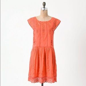 Anthropologie Meadow Rue Watermelon Ice Lace Dress